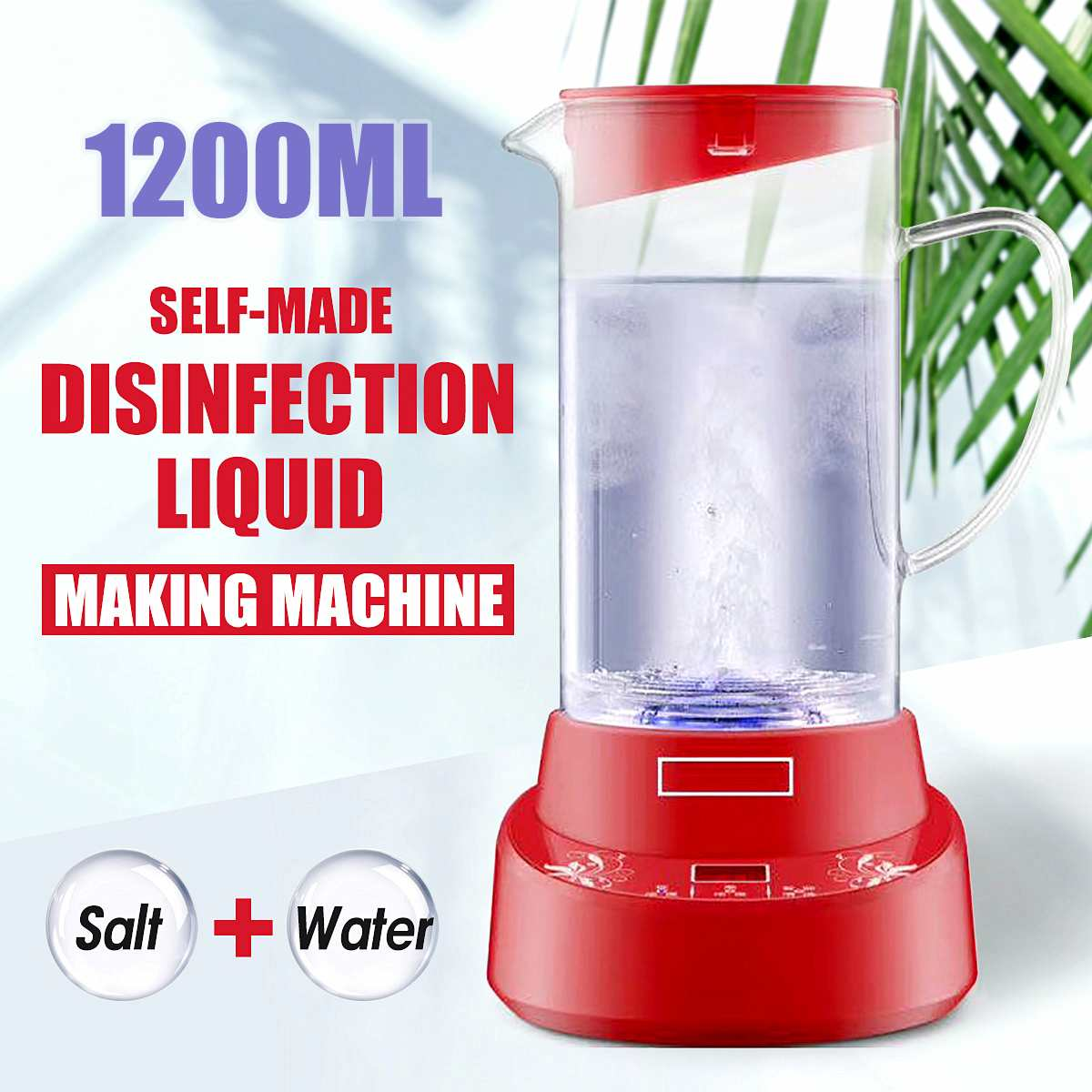 1.2L Hypochlorous Acid Water Disinfectant Machine Maker Sodium Hypochlorous Generator Household Sterilization Liquid Machine