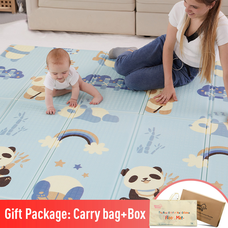 Baby Play Mat Folding XPE Crawling Pad Home Outdoor Folding Waterproof Puzzle Game Playmat 200cm*180cm*1cm