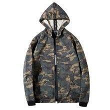 Denim Jacket Sportswear Hoodies Jeans Outdoors Men 7XL Fashion Plus-Size Camouflage Cowboy
