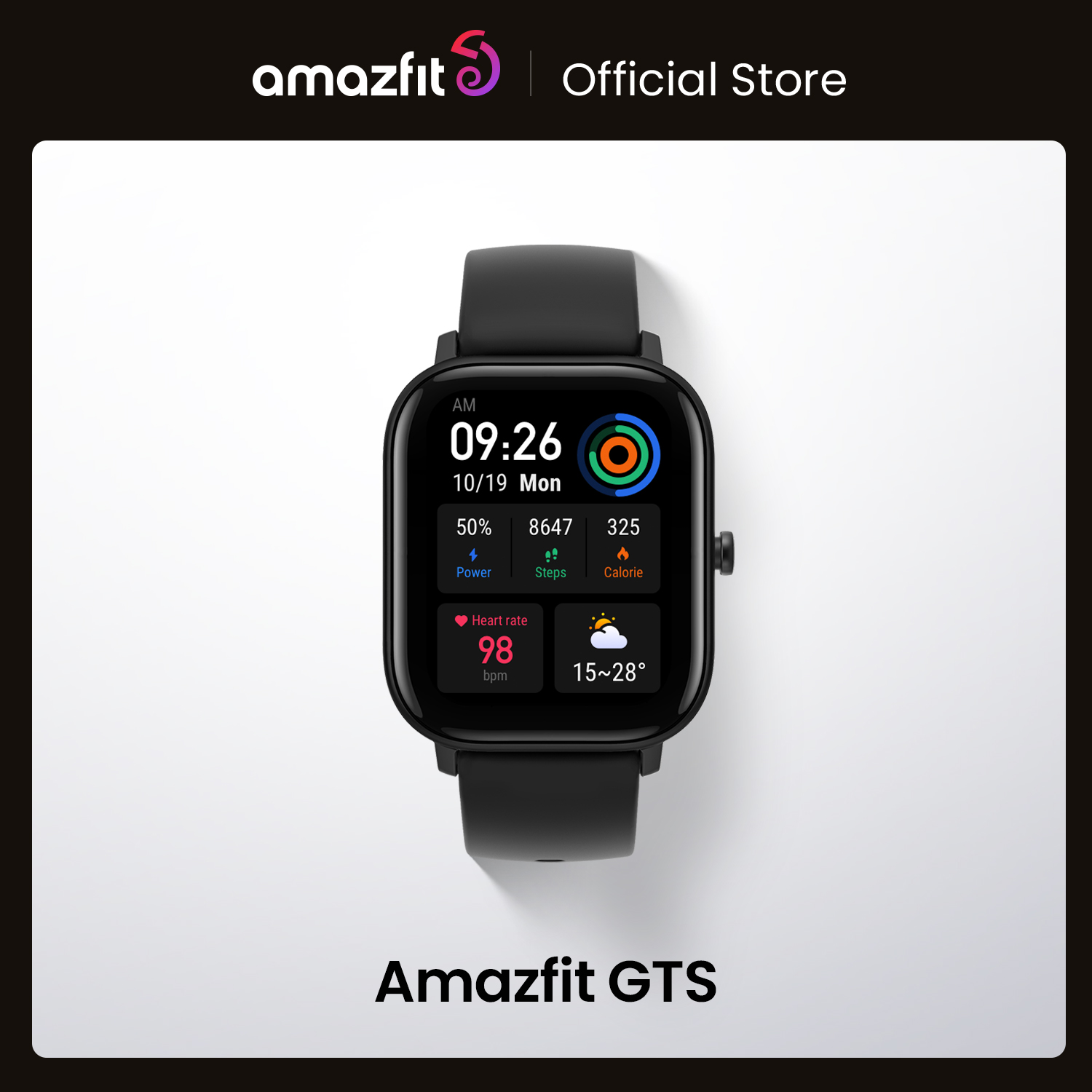 In stock Global Version Amazfit GTS Smart Watch 5ATM Waterproof Swimming Smartwatch 14 Days Battery Music Control for Android Smart Watches  - AliExpress