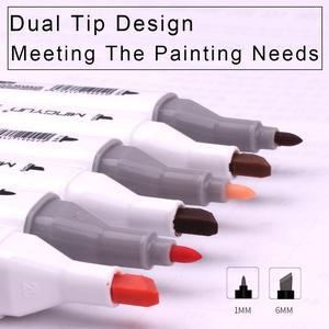 36 цветовых маркеров для кожи и волос, набор с двойным наконечником-двойные художественные маркеры с точечным зубчиком и круглым наконечник...