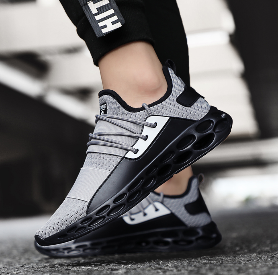 Ollymurs Running Shoes For Men Air Breathable Lightweight Sports Shoes Black Red Male Gym Sneakers  Zapatos De Hombre
