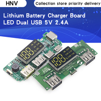 Lithium Battery Charger Board LED Dual USB 5V 2.4A Micro/Type-C USB Mobile Power Bank 18650 Charging Module