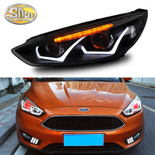 Car Styling LED Headlight For Ford Focus 3 MK3 2015 - 2018 LED DRL Turn Signal Light LED Red Devil Eyes Head Lamp Assembly цена 2017