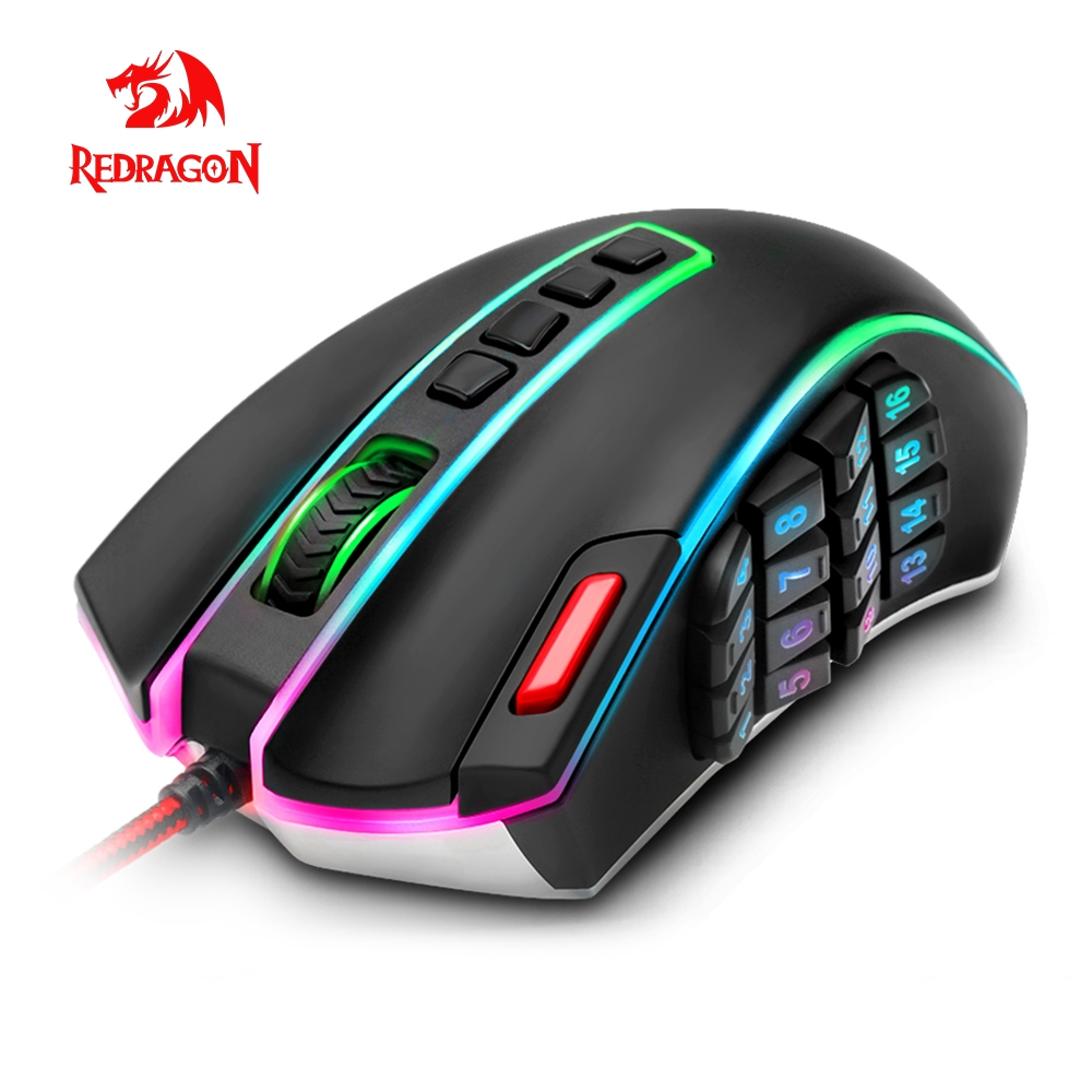 Redragon LEGEND M990 USB wired RGB Gaming Mouse 24000 DPI 24 buttons programmable game mice backlight