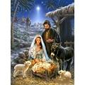 5D Diy Алмазная картина рождение Иисуса полный квадрат/круглая Алмазная вышивка животные пейзаж домашний декор мозаика Рождественский подар...