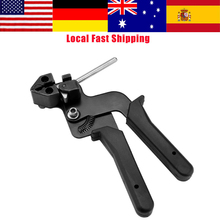 נירוסטה כבל עניבה אקדח Plier אוטומטי מתכוונן Tensioner לחיזוק הידוק חיתוך כלי 12mm רוחב 0.3mm עובי