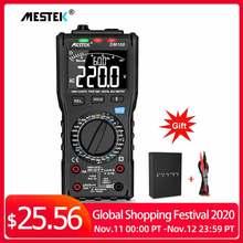 MESTEK DM100 Digital Multimeter High Speed Smart Double Core T rms NCV Temperature multimetro Anti burn Fuse Alarm multimeters