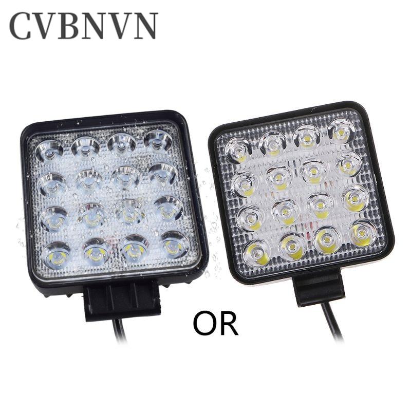 48W Vehicel Headlights 16LEDs Cool White Light Bar 4inch Vehicle Work Light LED Truck For SUV Light Bar/Work Light     - title=