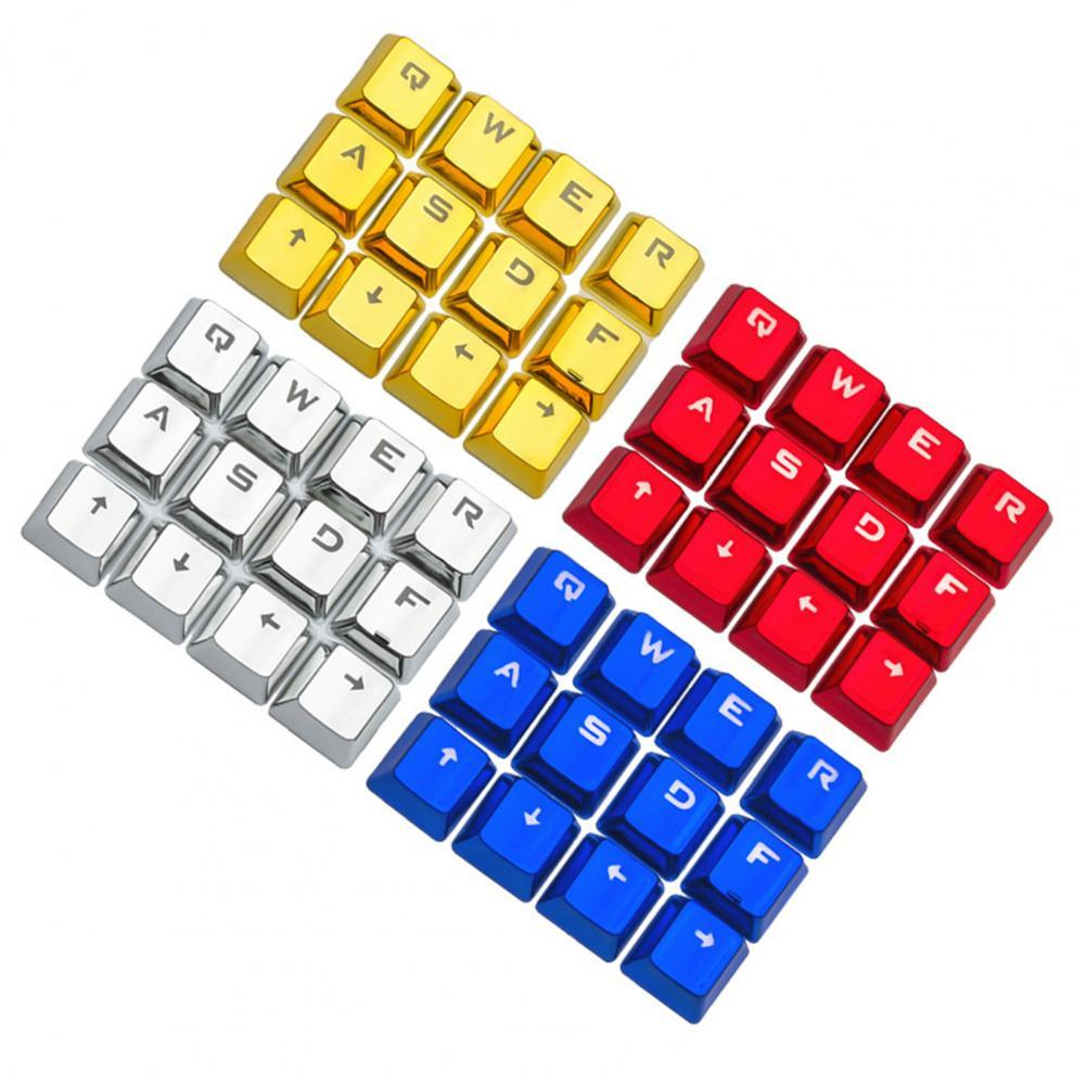12Pcs PBT Backlight Mechanical Keyboard Key Caps Replacement Computer Accessory