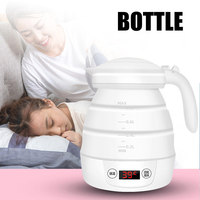 Electric Kettle Collapsible Portable Silicone Folding Fast Water Boiling for Travel can CSV