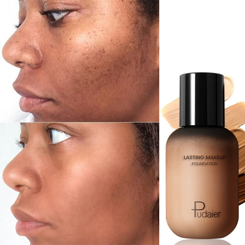 Pudaier 40ml Professional Concealing Foundation Makeup Matte Tonal Base Liquid Cosmetics Foundation Cream For Face Full Coverage