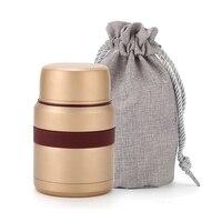 Frasco de vacío para taza de comida superior  Mini fiambrera de acero inoxidable de 350ML con contenedor