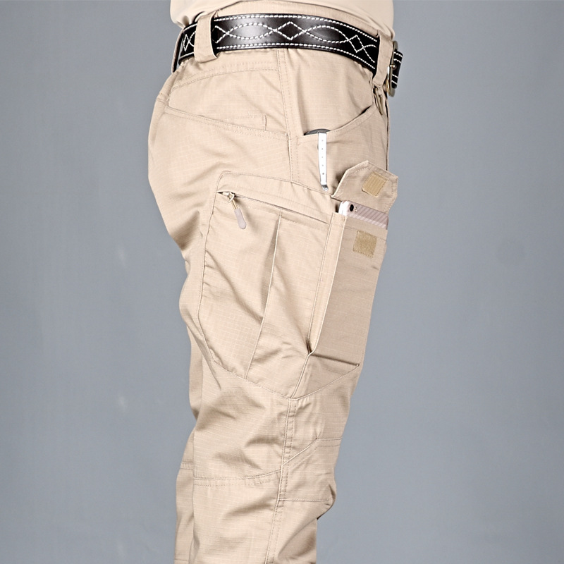 Hiking Trousers Cargo-Pants Multi-Pocket Military Elastic Army Tactical Outdoor Waterproof