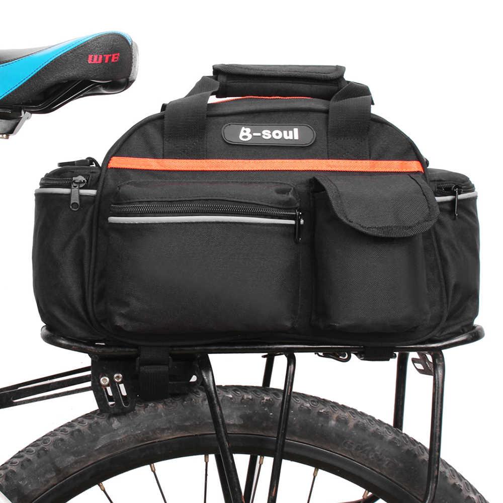 B-SOUL Bicycle Rear Rack Bag Bike Cycle Tail Seat Pannier Pouch Trunk