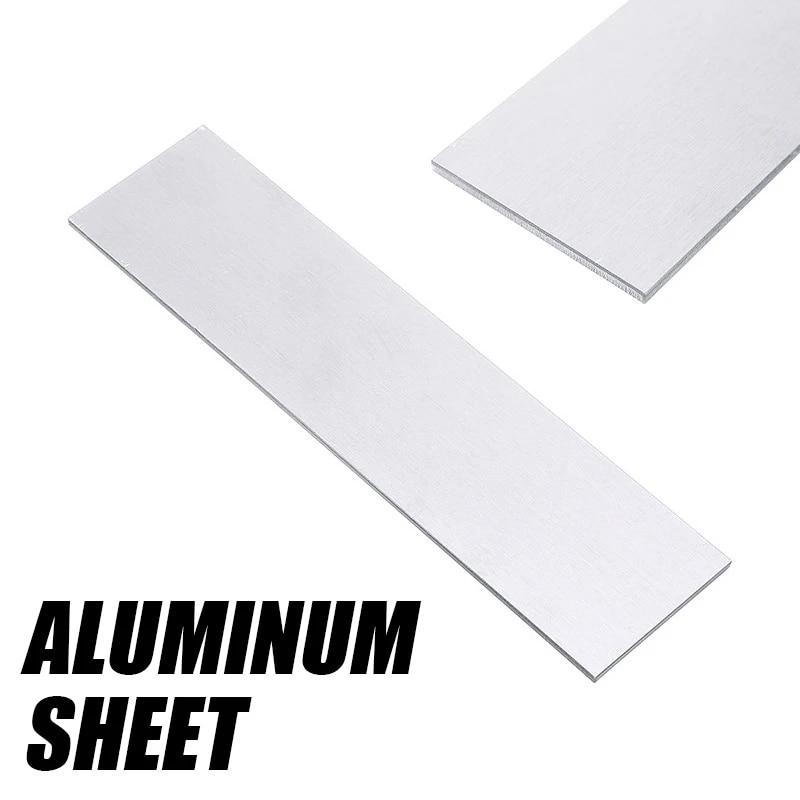 2pcs 200x50x8mm ALUMINUM 6061 Flat Bar Flat Plate Sheet 8mm Thick Cut Mill Stock