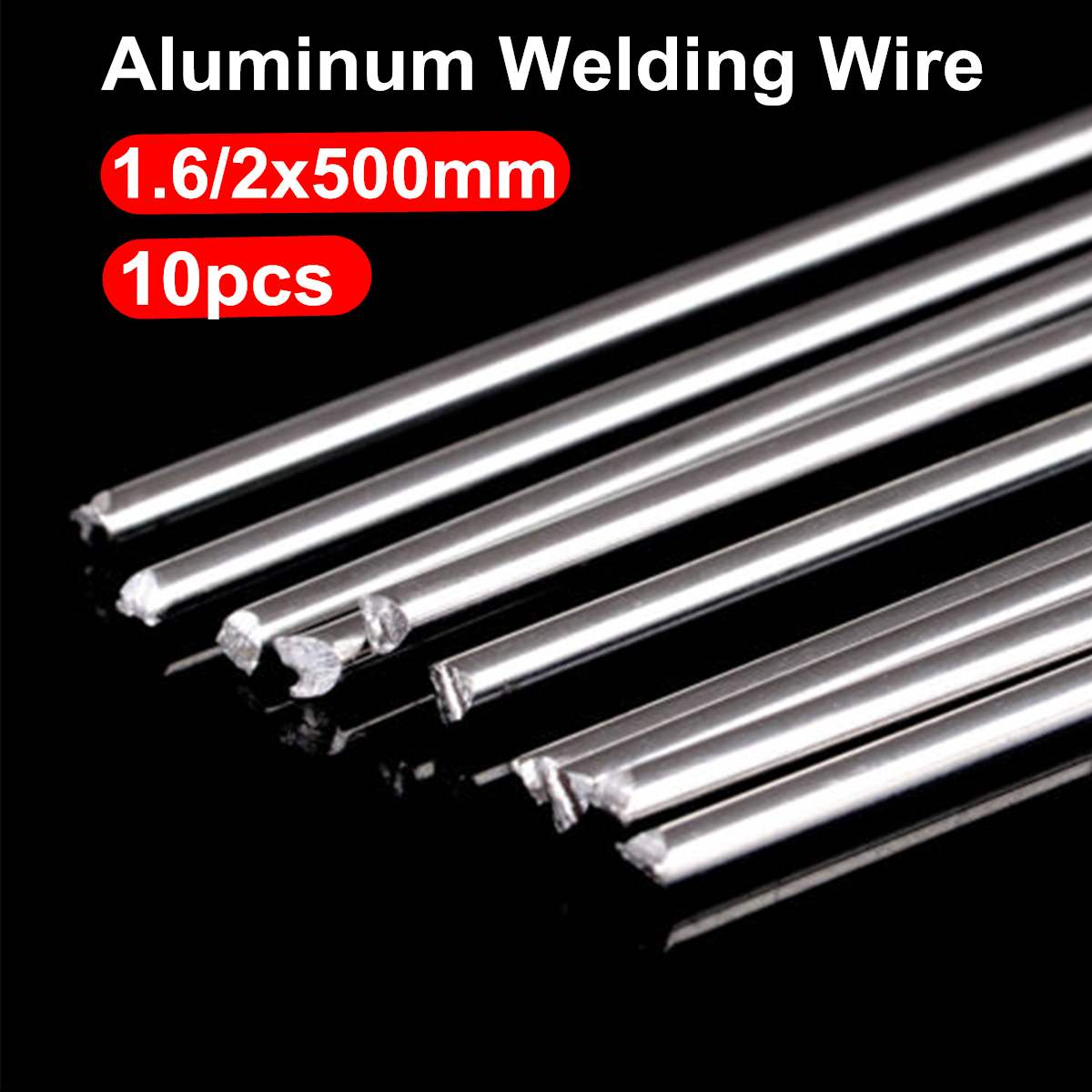 10pcs Solution Welding Rods Low Temperature Aluminum Soldering Sticks Flux-Cored Rod Kits 1.6mm/2mm