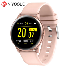 KW19 Smart Watch Waterproof Wearable Device Heart Rate Monitor Color Display Sports Women Tracker Band for iPhone