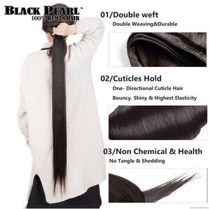 Image 3 - Black pearl 30 32 34 36  inch Bundles Peruvian Hair Weave Bundles 100% Straight Human Hair Bundles Remy Hair Extensions