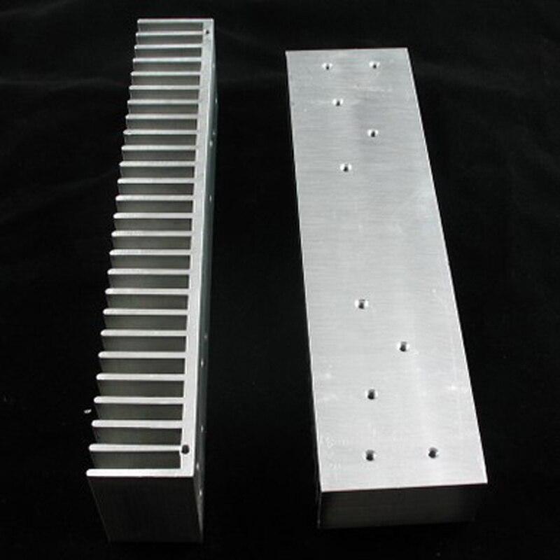 Todo o radiador de alumínio e para l6 L12-2 mx50 amplificador diy 200mm x 30mm x 50mm