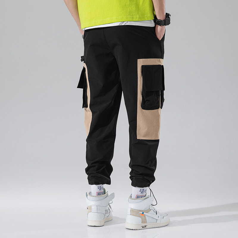 2019 Spring And Summer INS Super Fire Shiny Side Smooth Fabric Loose-Fit Hiphop Hip Hop Windbreaker Pants Ankle Banded Pants Ath