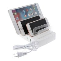 Universal 40W 4x QC 3.0 Quick Charge 4 USB Ports Charging Dock Station Fast Charger HUB Power Adapter for Mobile Phone Tablet Po