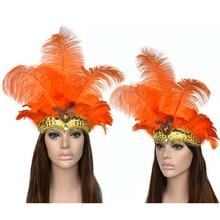 Masque tête masque carnaval, masque de noël, accessoires de Costumes de la rivière brésilienne, couvre chef pour dames