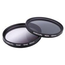 Фильтр для камеры 49 мм полный серый постепенный Серый фильтр для фотоаппарата Nikon D3100 D3200 D5100 SLR объектив для камеры