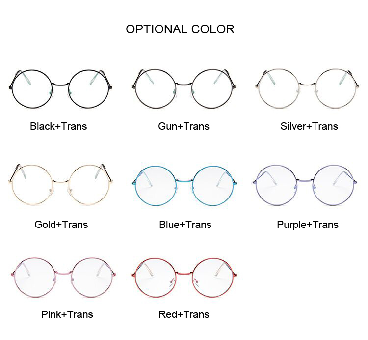 H5c789978893f4dcfbdae52338de6fcc4I - Vintage Retro Metal Frame Clear Lens Optical Glasses Fashion Harry Eyewear Eyeglasses Black Small Round Circle Eye Glasses