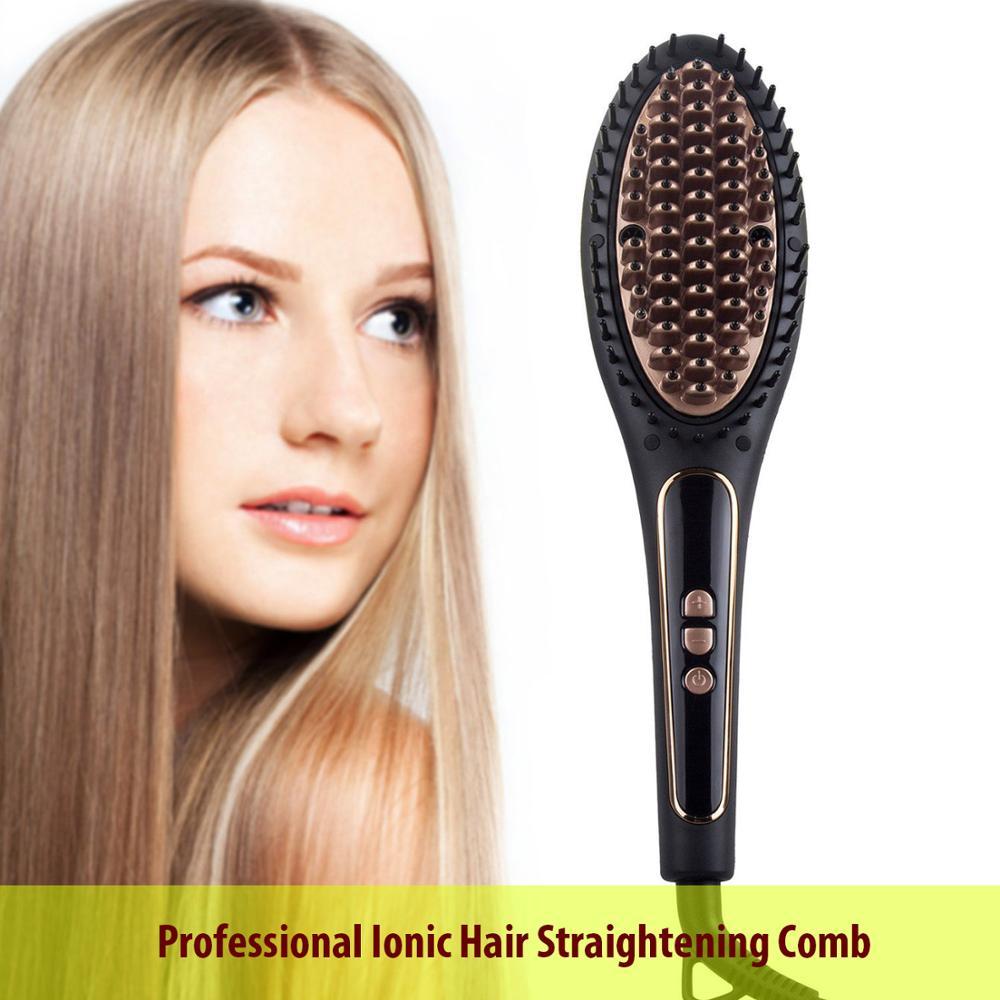 Professional Ionic Smoothing Brush Electric Hair Brush Hot Comb Hair Beard Straightner Heating Comb Styling Styler