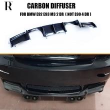 M3 углеродного волокна диффузор, губа на Задний бампер протектор для BMW E92 M3 купе E93 M3 Кабриолет 2006-2012(не может поместиться E90 M3