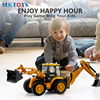 Diecast Excavator 1:50 Back Hoe Loader Truck Model Two-way Excavator Forklift Bulldozer for Collection Gifts