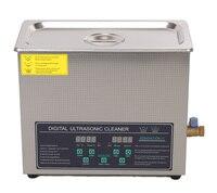 Ev Aletleri'ten Ultrasonik Temizleyiciler'de Ücretsiz kargo 110 V/220 V çift frekanslı 40 KHz/28 KHZ 180W JPS 30AD dijital ısıtıcı zamanlayıcı ultrasonik temizleyici 6L