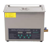 free shipping 110V/220V Dual frequency 40KHz/28KHZ 180W JPS-30AD Digital heater&timer Ultrasonic Cleaner 6L