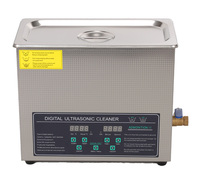 free shipping 110V/220V Dual frequency 40KHz/28KHZ 180W JPS 30AD Digital heater&timer Ultrasonic Cleaner 6L