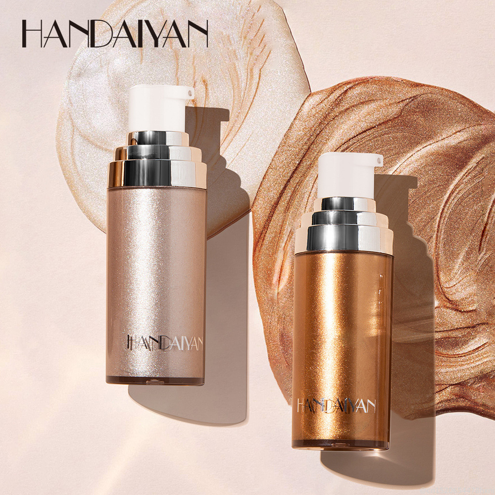 HANDAIYAN Liquid Highlighter Illuminator Makeup Face Legs Brightener Concealer Liquid Glitter Bronzer Face Glow Cosmetics TSLM1 image