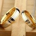Neue Mode Einfache Design 316 Titan Stahl Herren Ringe Liebhaber Paar Ringe Allianz Gold Hochzeit Band Ringe Set für Frauen männer