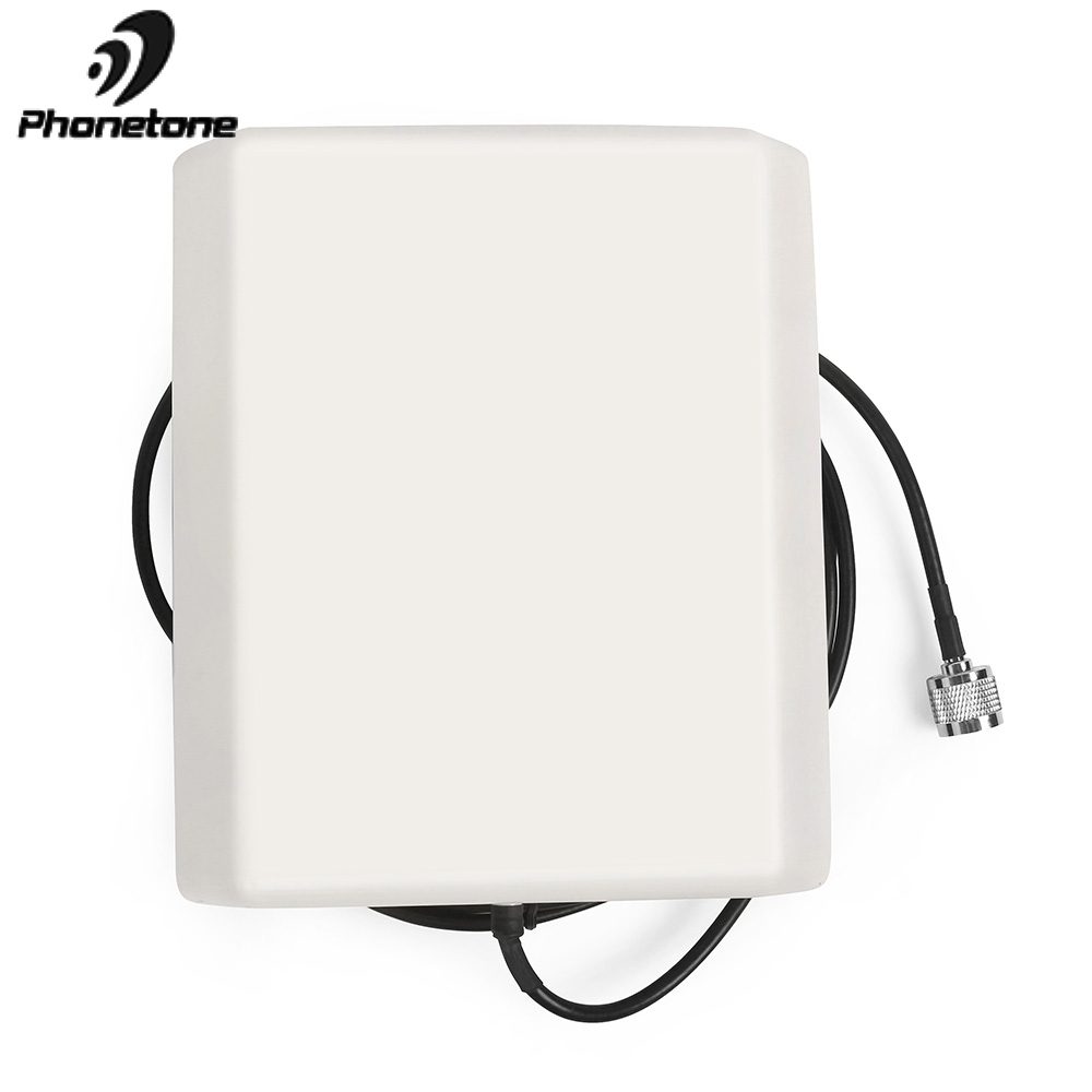 800-2500MHz 9dBi Indoor Directional Panel Antenna GSM Lte Antenna With 5m Cable N Male Connector For Cell Phone Signal Booster
