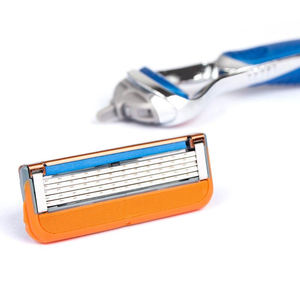 4pcs/lot Professional Shaving 5 Layers Razor Blades Compatible For Gillettee Fusione Men Face Care Or Mache 3