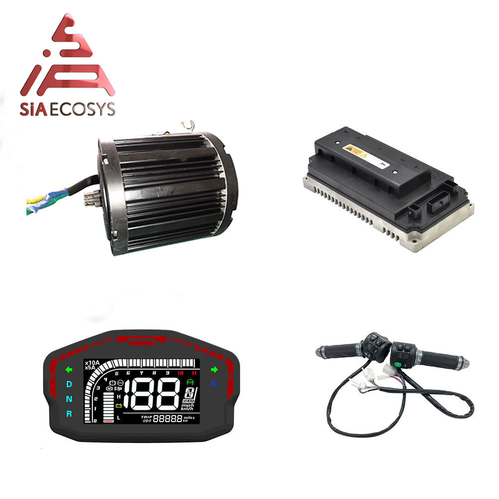 QSmotor 138 <font><b>3kw</b></font> 72V 100KPH Mid drive <font><b>motor</b></font> BLDC <font><b>motor</b></font> 3000w power train kits with <font><b>motor</b></font> controller and Z6 throttle sprocket type image