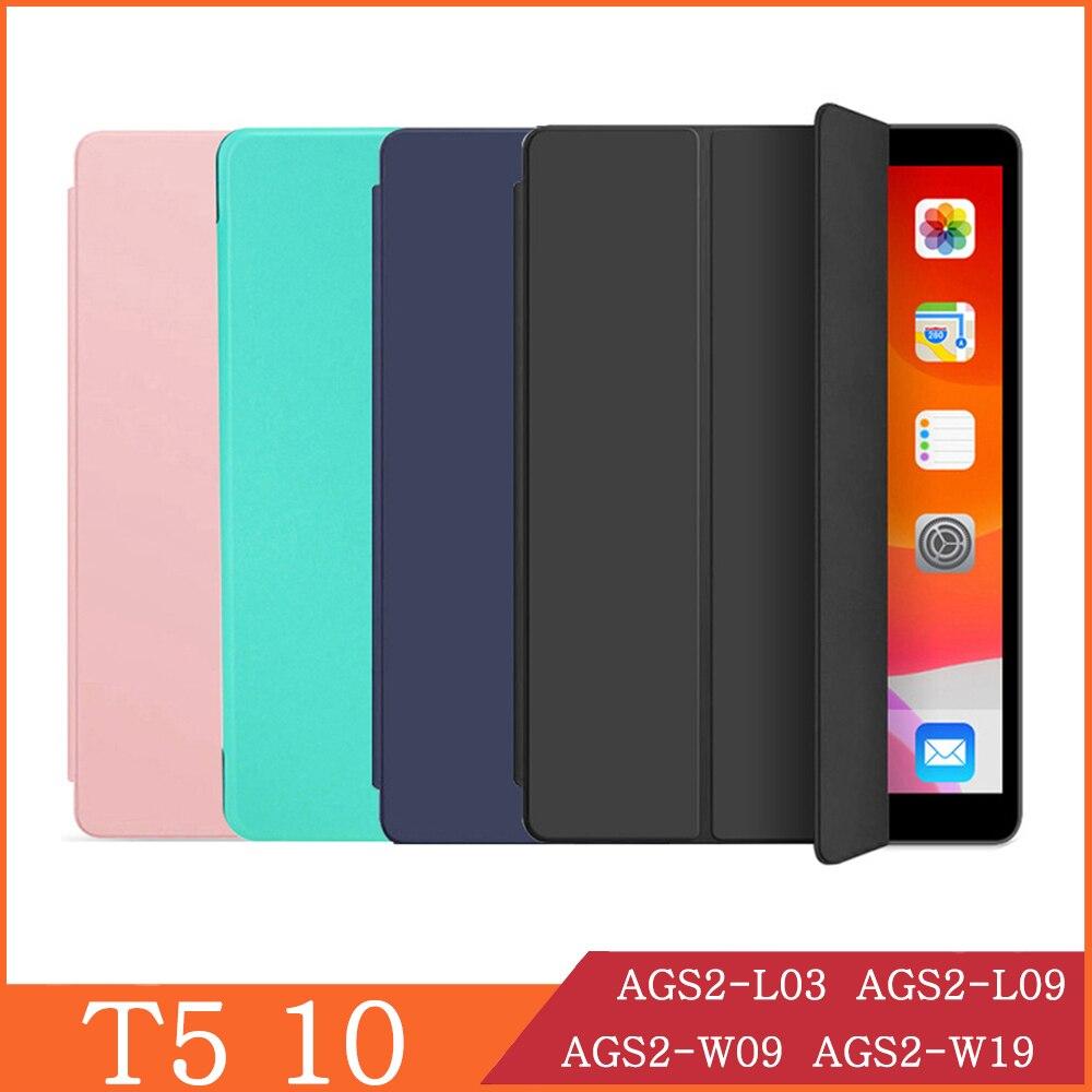 Чехол для Huawei MediaPad T5 10 Wi-Fi LTE 10,1 AGS2-W09 AGS2-W19 AGS2-L03 откидной чехол для планшета с подставкой Folio Capa