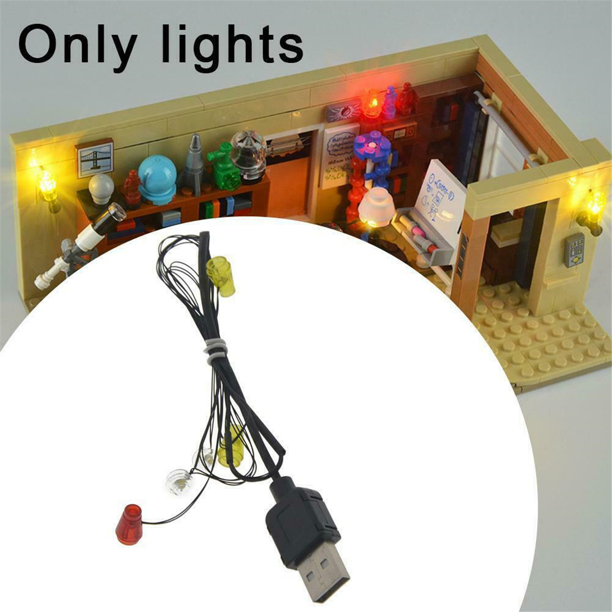 DIY LED Lighting Kit for LEGO 21302 Classic American Drama Friends Central Park Cafe Group Bricks Toys Gifts image