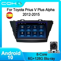 COHO Per Toyota Prius V Plus Alpha 2012-2015 Car Multimedia Player Radio Coche Android 10 Octa Core 6 + 128G