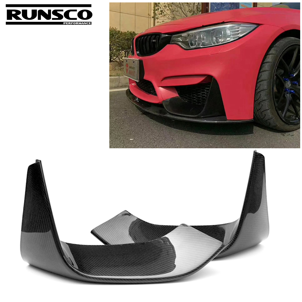 Carbon Fiber Front Bumper Chin Lip Spoiler for BMW 3Series F80 M3 4Series F82 F83 M4 2012 - 2018 car accessories styling image