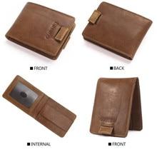 Men Wallets RFID Slim Small Leather Wallet