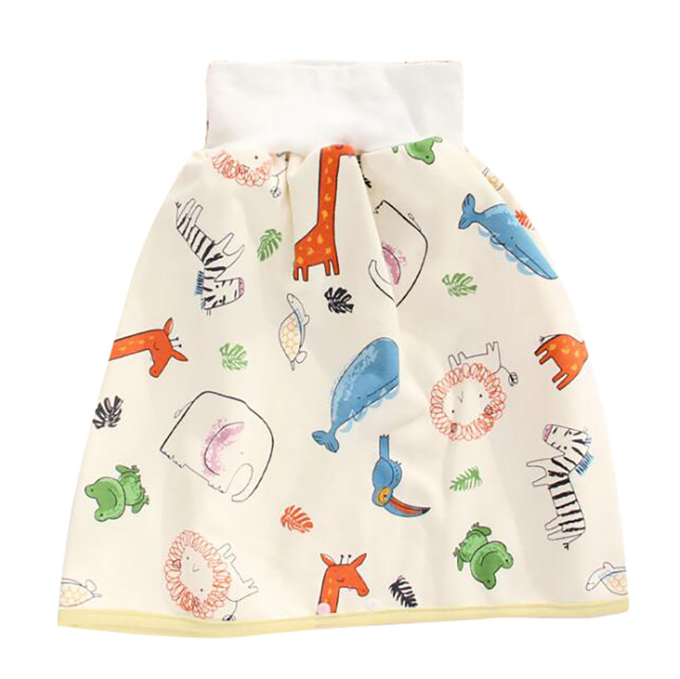 Togethor 2 in 1 Reusable Baby Diapers Skirt Shorts Comfy Cotton High Waist Super Strong Absorption Leak Proof Shorts 0-8 Years Old Boys Girls Training Skirt