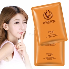 BIOAQUA 10Pcs Horse oil face mask extract moisturizes tired skin refresh vitality Moisturizing Anti Aging facial mask Skin Care недорого