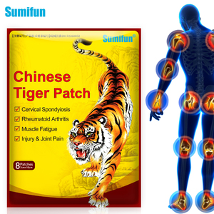 Sumifun 8pcs Tiger Balm Patches Analgesic Plaster Arthritis Joint Back Pain Patch Neck Muscle Body Herbal Plaster K05301