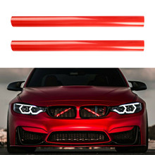 Car Front Grille Trim Strips Pipe Exterior Accessories For BMW 1 2 3 4 Series F20 F30 F32 F40 G20 G29 Styling Decoration Sticker