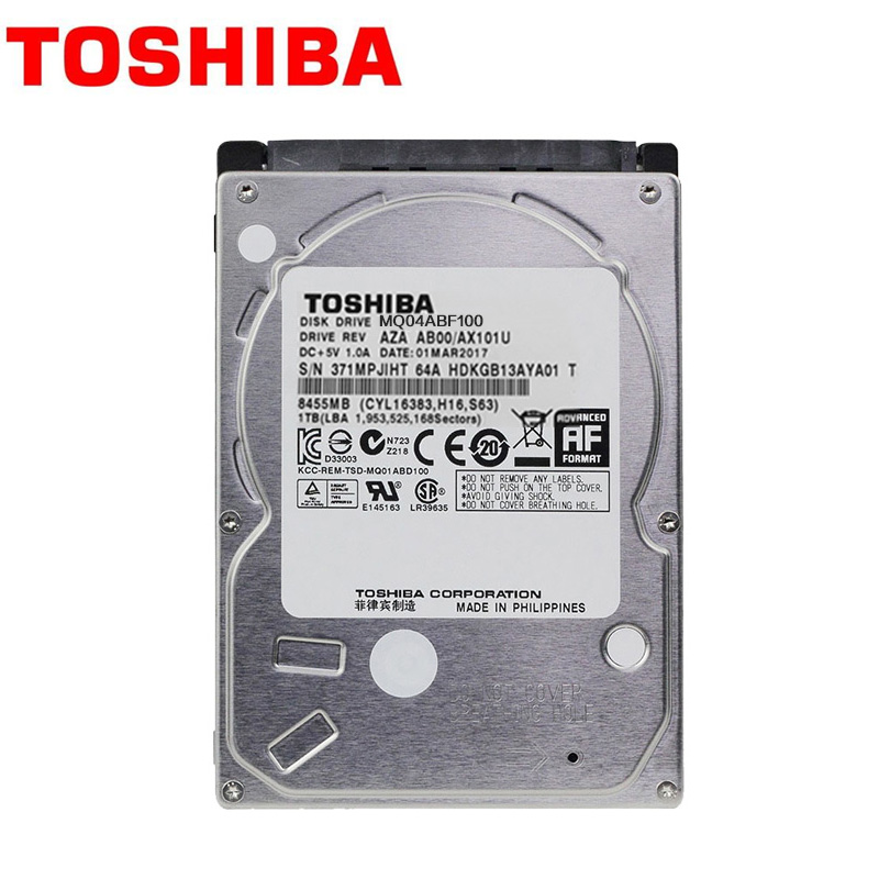 "TOSHIBA Laptop 500GB 320GB 1TB 500G Internal Hard Drive Disk HDD HD 2.5"" 5400RPM 8M SATA 2 MQ01ABD050 for Notebook"